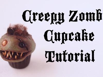 Halloween Collab: Creepy Zombie Cupcake Tutorial