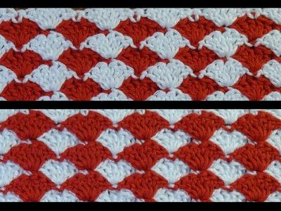 Heklana mustra školjke u dve boje (Crochet Pattern Shells in Two Colors)