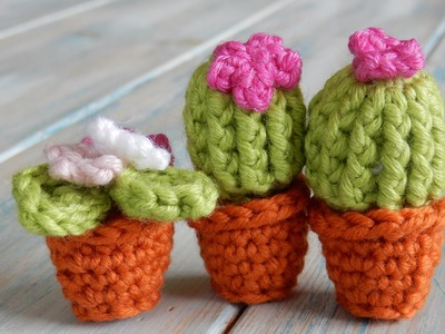 How to Crochet a Mini Cactus and Terracotta Pot