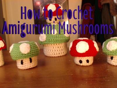 How to Crochet Amigurumi Mushrooms