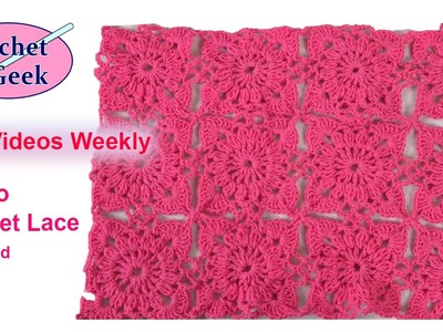 How to #Crochet #Lace Motif Left Hand