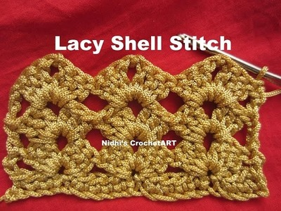 How To Crochet- Lacy Shell Stitch Tutorial