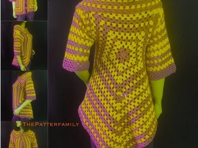How to Crochet Open Front Sweater Pattern #20│by ThePatterfamily