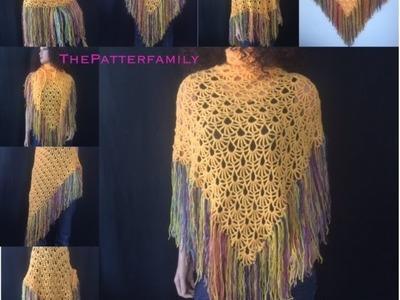 How to Crochet Purple Rain Shawl Pattern #55│by ThePatterfamily