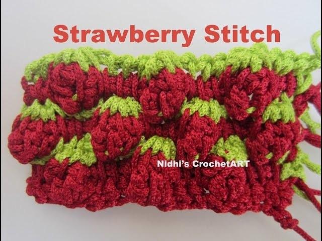 How To Crochet- STRAWBERRY Stitch Tutorial