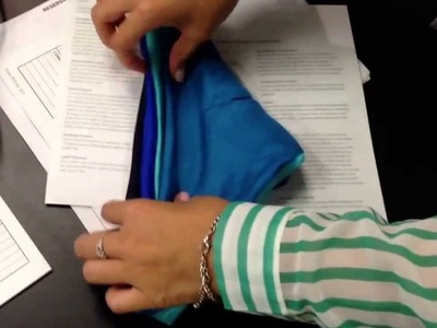 How to fold a 4 colored pocket square.