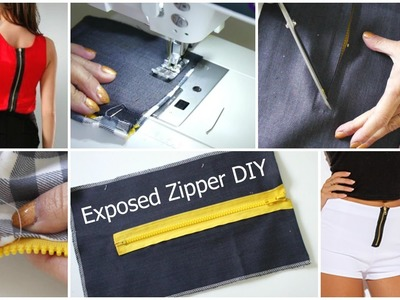 How to insert a fashion Zipper!