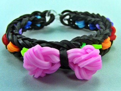 How to Make a Bow  rubber band Bracelet