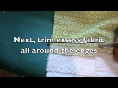 How to Make a Burp Cloth - Sewing Tutorial