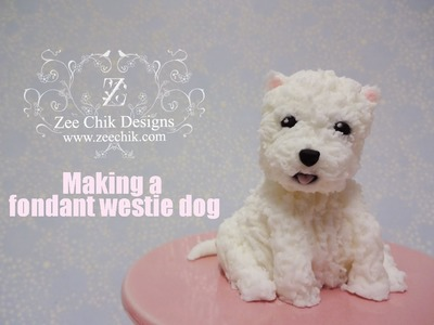 How to make a fondant. polymer clay Westie Dog
