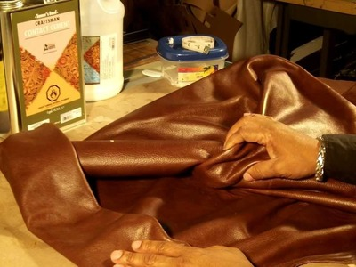 How To Make A Leather Clutch Bag Part 3 of 5