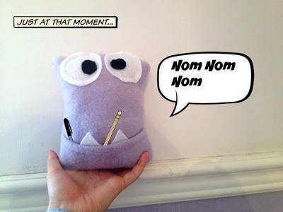 How to make a monster pocket pillow