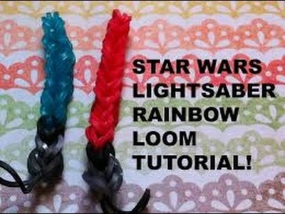 How to make a rainbowloom lightsaber!