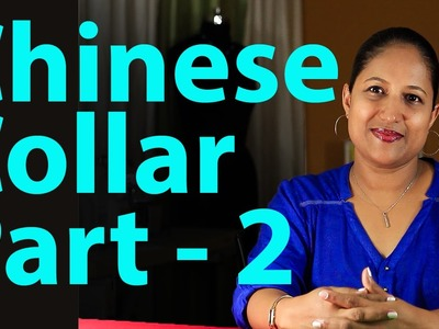 How to make chinese collar for kurti -  Part 2
