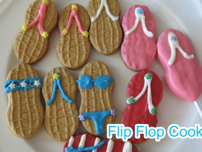 How to Make Flip Flop Sandal.Bikini Cookies(Nutter Butter) - 【Simply Yummy】by Elegant Fashion 360