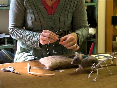 How To Needle Felt - Mouse Series 1: Armature by Sarafina Fiber Art