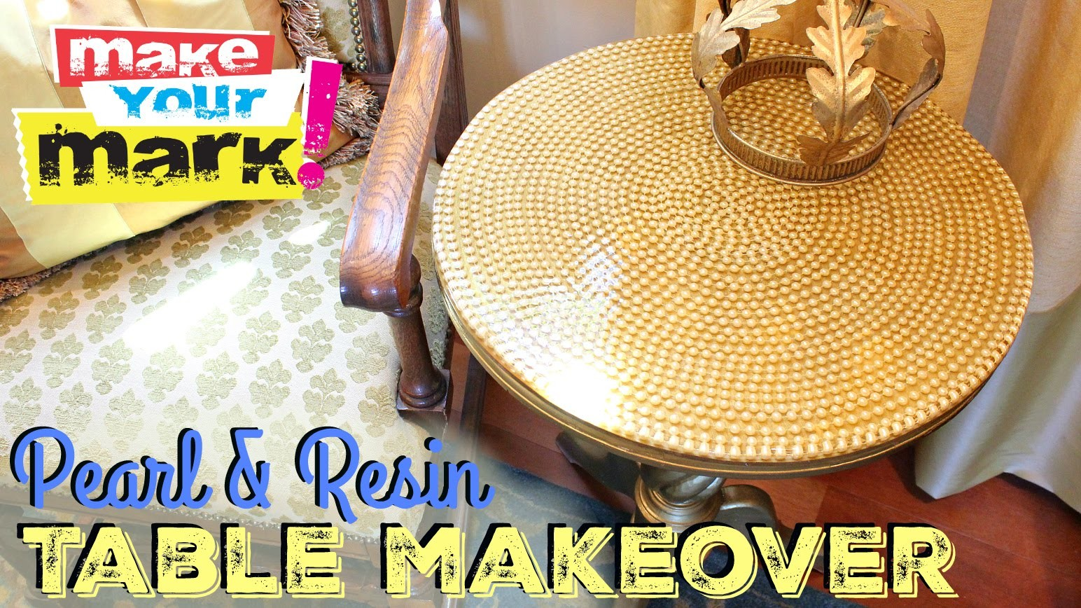 How to: Pearl & Resin Table Makeover