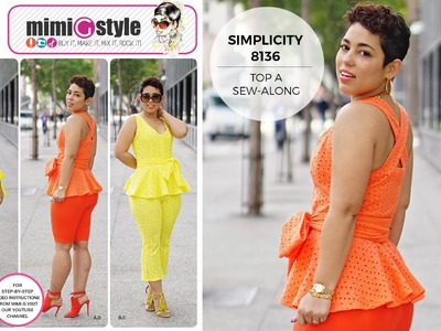 How to Sew a Top with Mimi G Simplicity Pattern 8136