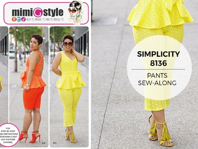 How to Sew Pants with Mimi G Simplicity Pattern 8136