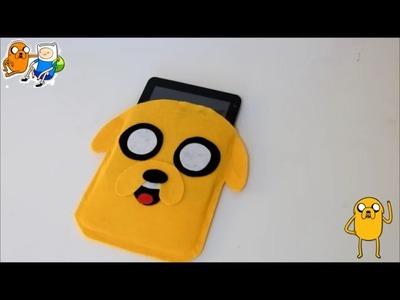 Jake the dog tablet felt case - Adventure time crafts