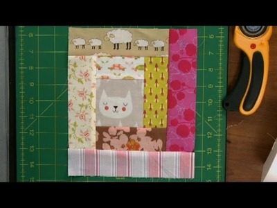 Log Cabin Quilt Squares with Scraps  |  National Quilters Circle