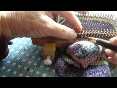 Loom Knitting the Foot Section of socks