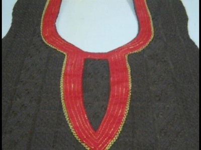 Make Awesome Neck Design with use of Golden thread in Easiest way