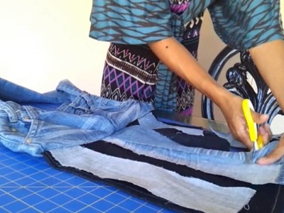 Meeshatv Replay How To Make a purse out of old jeans  Summer studded DIY EASY