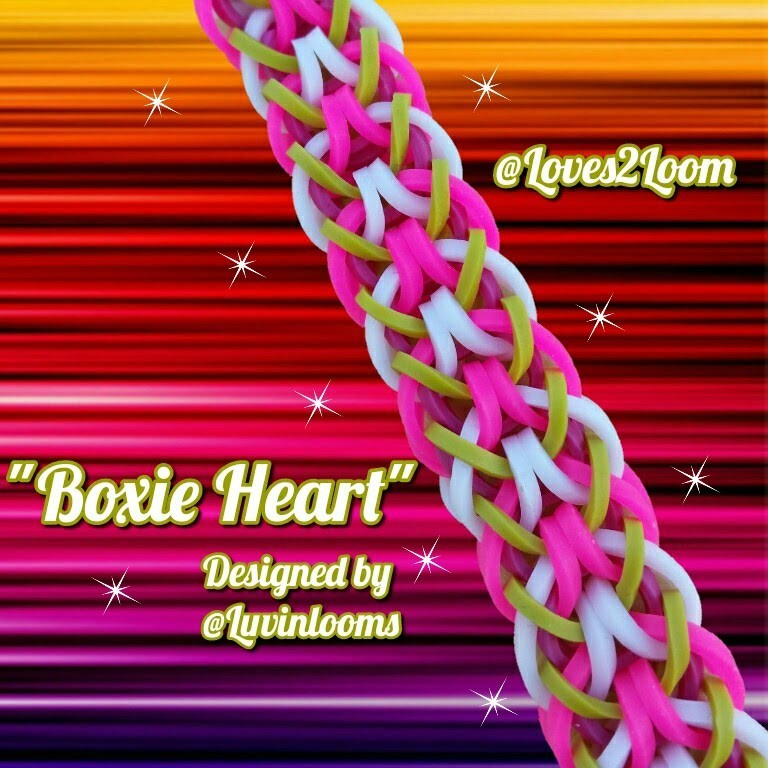 """New """"Boxie Heart"""" Hook Only Bracelet.How To Tutorial"""