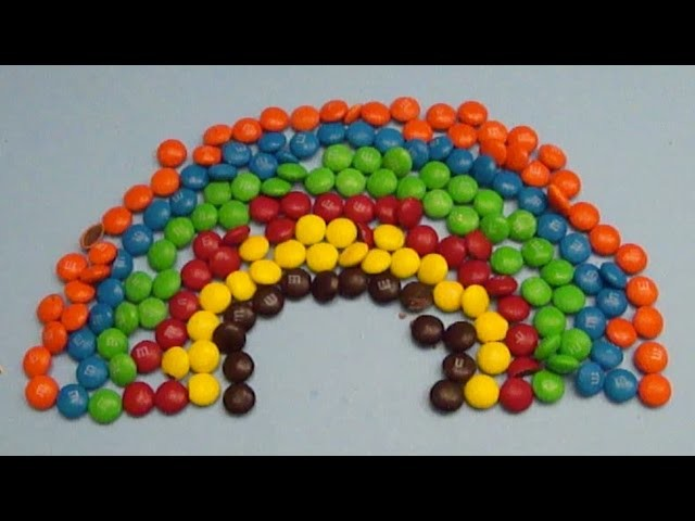 New Learn Colours with Surprise Eggs and a M & M Rainbow!
