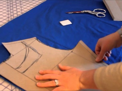 Pattern Drafting: Truing the seams and cutting out.