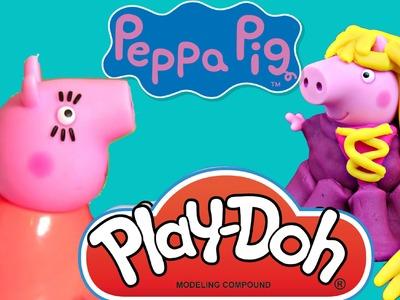 Peppa Pig English Episodes 2016!! Peppa Pig Qartulad Play doh Wedding make hair Peppa pig en español