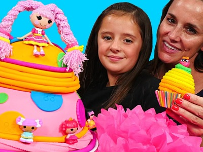 Play Doh Lalaloopsy Super Silly Party Cake & Playdough Birthday Surprise Cupcake Eggs by DCTC