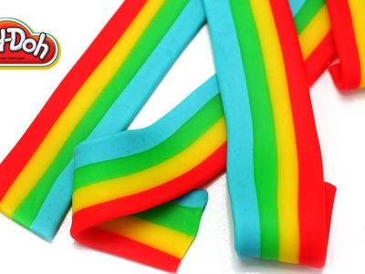 Play-Doh Rainbow Candy Belts Easy