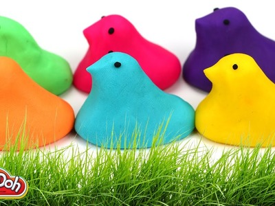 Play-Doh Rainbow Peeps Colorful Pastel Playdough Easy