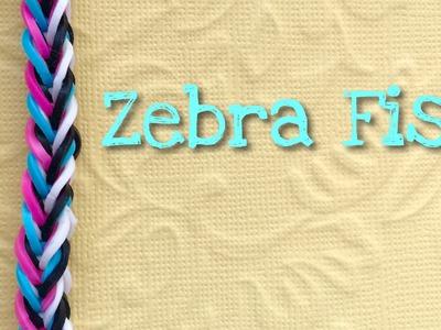 Rainbow loom bands zebra fish tutorial