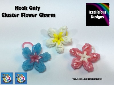 Rainbow Loom Cluster Flower Charm - Hook Only