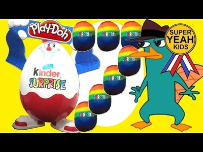 Rainbow Play Doh Surprise Eggs Unboxing | SuperYeahKids