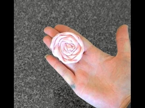 Rolled Flower Rose Fabric Tutorial with Artemis in Love (Part 2 Headband Tutorial)