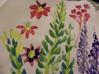 Science and Art for Kids:Painting Garden Flowers
