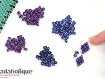 Size Comparison of Czech Glass SuperDuo and MiniDuo Beads