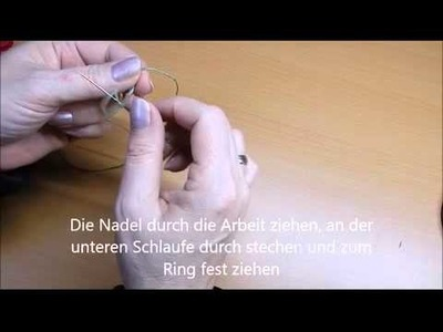 Tatting mit der Nadel, Lektion 1, deutsch