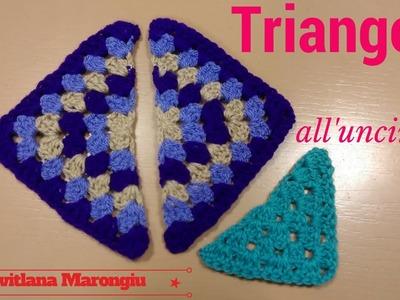 Triangolo della nonna all'uncinetto - tutorial triangolo all'uncinetto