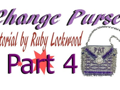 (Tutorial) Beaded Change. Amulet Purse DIY (Video163)