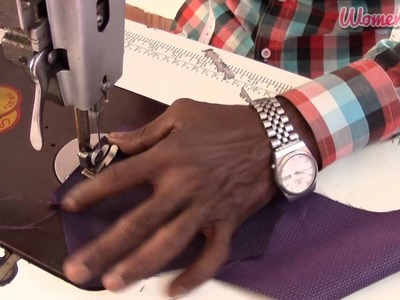 'V' Shoulder and Apple Cut Men Shirt Step by Step - 3.Stitching the Hand cuff & Collar (English)
