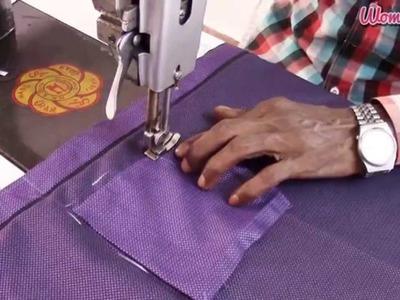 'V' Shoulder and Apple Cut Men Shirt Step by Step - 5. Making V Shouder and Pockets (English Audio)