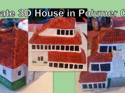 3D Polymer Clay House Sculpture Tutorial