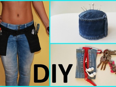 8 Creative DIY Ways HOW TO REUSE OLD JEANS