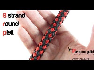8 strand round plait around a core