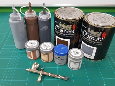 A guide to airbrushing with house paint for terrain builders